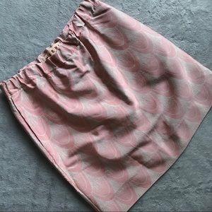 Marni Silk Cotton Goma Drawstring Skirt Pink 38